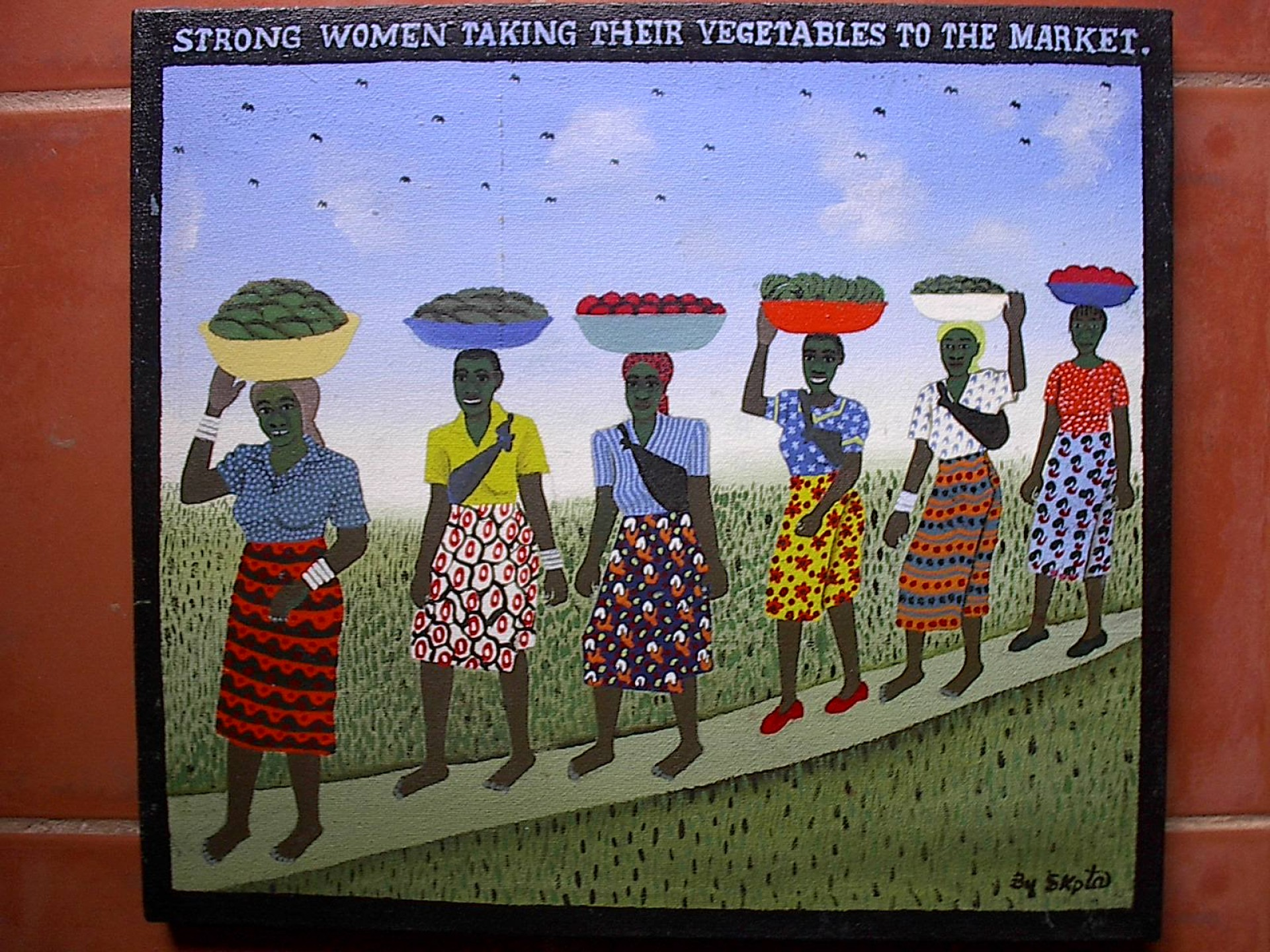 Strong Women Taking Their Vegetable To The Market